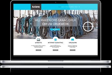 Website en webshop geschikt voor laptops