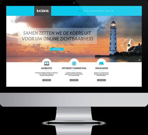 Website en webshop geschikt voor desktops