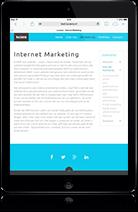 Website en webshop geschikt voor tablets en ipad
